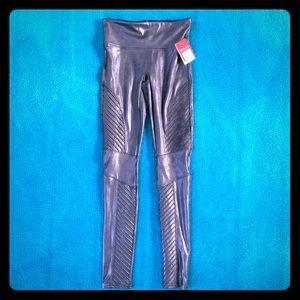SPANX • Faux Leather Moto Leggings